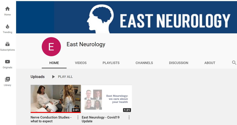 East Neurology now has a YouTube Channel