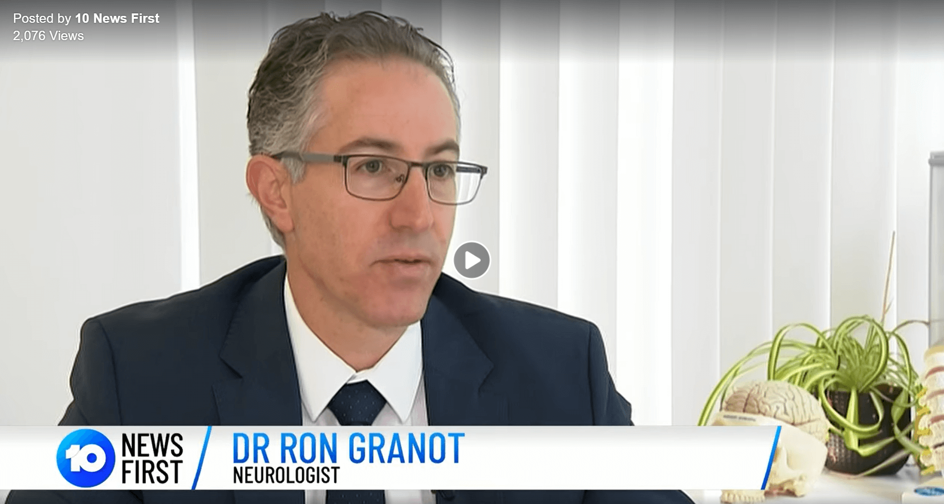 Dr Ron Granot on Channel 10 News, talking about Migraine
